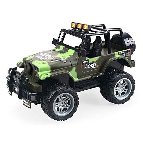 MEILA Übergroße elektrische Funkfernsteuerung Rennwagen Aufladen Junge Hochgeschwindigkeits-Geländewagen Klettern Bigfoot SUV Ferngesteuertes Auto (Color : Green, Größe : L)