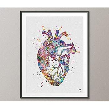 DNA Abstract Art Watercolor Print Science Art Print Doctor Medical Art Biology