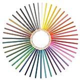 48er Set Aquarellstifte - Viele Leuchtende Farben, Verwendet von Künstlern, Designern und Erwachsenen. Gratis Pinsel und Anspitzer. Starke Mine, Leicht zu Verwischen. Ungiftig. Geld-Zurück-Garantie