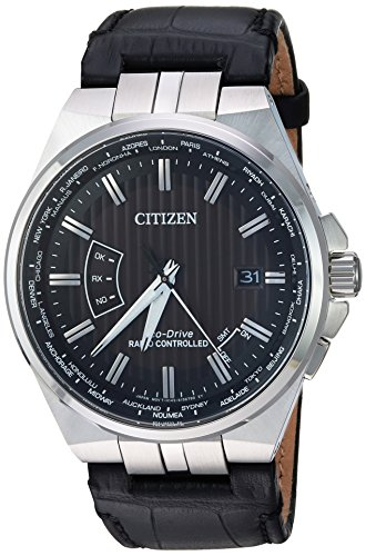 Citizen Men's World Perpetual A-T 42mm Leather Band Eco-Drive Watch CB0160-00E