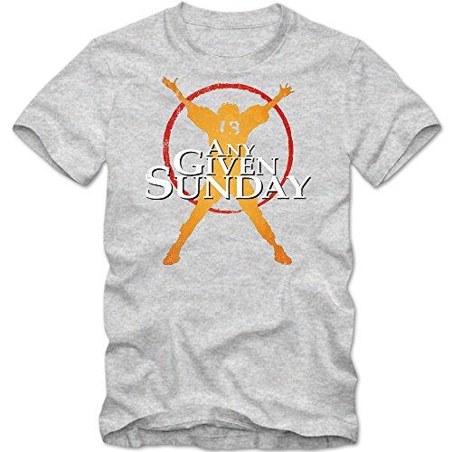 An jedem verdammten Sonntag T-Shirt | Herren | Football Shirt | Super Bowl | American Sports | Fanshirt | Tee © Shirt Happenz Graumeliert (Grey Melange L190)