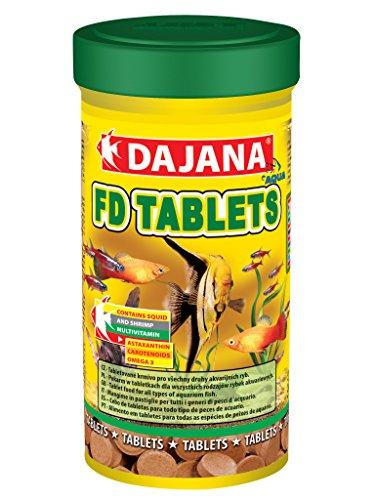 Dajana Tablets adhesive – Aliment en comprimés pour tous les types de poissons d'aquarium, 100 ml