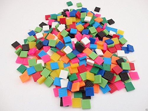 asst-colours-mosaic-square-plastic-tiles-picture-framing-embellishment-pack-size-50g