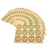 JZK 240 x Thank you Kraft cuore etichette adesive rotonde chiudipacco adesivi bomboniere chiudi sacchetti adesivi buste regalo decorazione scatola confetti