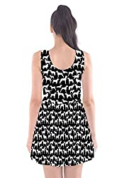 CowCow Womens Dogs Animal Patterns Scoop Neck Skater Dress