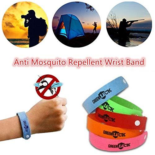 50 Stücke Heißer Mückenschutz Handgelenk Band Armband, Mückenschutz Armreif Handgelenk Insektennetze Bug Lock Camping Protector -