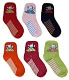 #8: MISS U BABY BOYS GIRLS UNISEX COTTON ANKLE LENGTH SOCKS (multicolor) set of 6 pairs ASSORTED DESIGNS