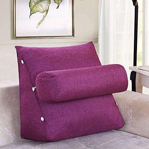 MMM- Chevet Triangulaire Coussin Sangle Garde-Cou Oreiller Canapé Bureau Dossier Pad Lit Oreillers ( Couleur : Violet clair , taille : 45 )