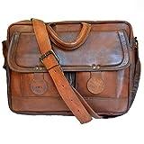 Männer Echtes Öl Leder Handtasche Business Aktentasche Messenger Laptop Schultertasche