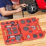Jago Universal Bremskolbenrücksteller 22-teilig | 2 x Spindel, 17 x Adapter, 2 x Rückhalteplatten | Bremsbacken-Set, Kolbenrücksteller Werkzeug
