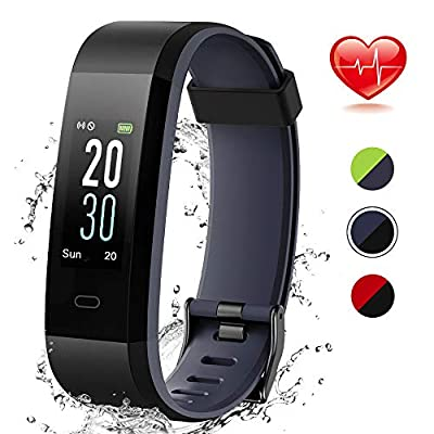 Lintelek Colour Screen Fitness Tracker, Activity Tracker IP68 Waterproof Pedometer Step Counter Wristband,GPS Sport Watch for Women Men Kids by Lintelek