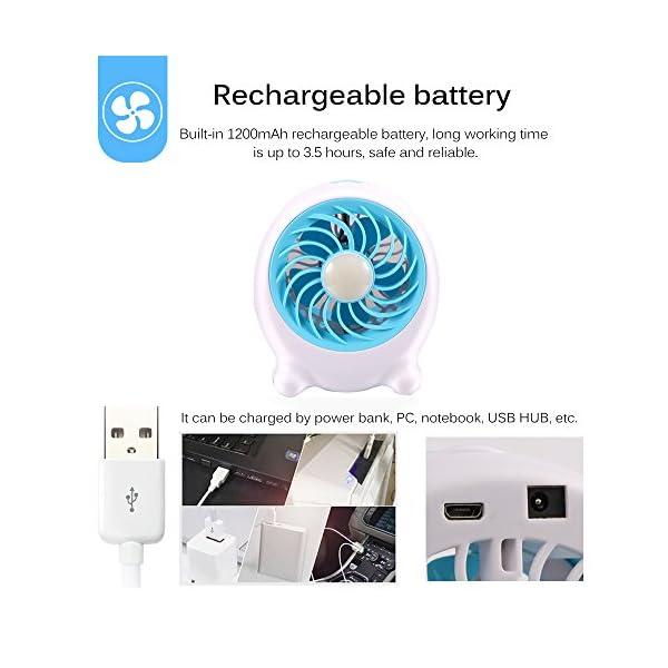 ONEVER-Ventilador-USB-Modos-de-3-velocidades-Mini-ventilador-de-mano-en-el-escritorio-luz-LED-recargable-para-regalar-Estudio-de-la-casa-para-el-hogar-Dormitorio-compartido-Picnic-Senderismo-Pesca-en-