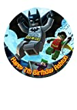 Personalisierte Kuchendekoration, Motiv Batman, Esspapier, 19 cm, Bild 3