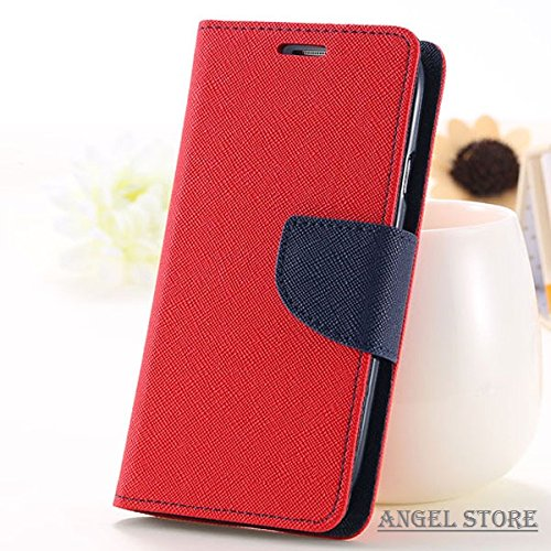 Angel Store Covers For Micromax A 120 Flip Cover Wallet Case (Red)  available at amazon for Rs.186