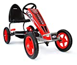 JOY 4KiDS Kids pedal go kart, ride-on car, pedal go cart, rubber air inflatable tyres 5-12 yrs
