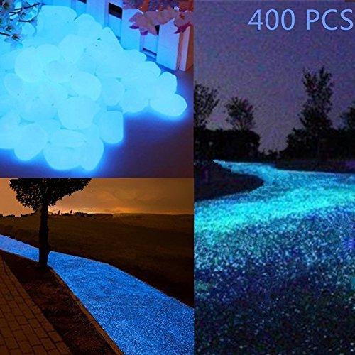 Glow in the Dark Garden Pebbles Stein für Durchgang, Yard und Decor DIY dekorativer Kies Steine in blau