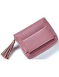 c3f317b59 WeoHau Billetera Paquete De Las Mujeres del Diseño De Moda Borla Billetera  Corta Moneda Monedero Tarjeta