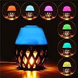 Fash Lady Bunte LED Torch Flame Flicker Nachtlicht Luftbefeuchter Aroma Öl Diffusor Luftreiniger