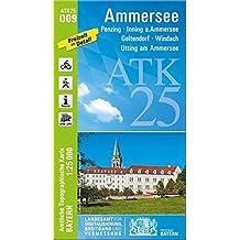 Ammersee 1 : 25 000 (ATK25 Amtliche Topographische Karte 1:25000 Bayern)
