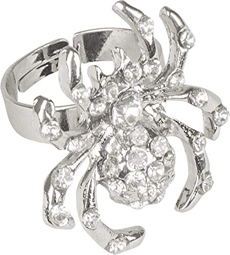 Hexe Diamant Kostüm - Boland 00646 - Ring mit Spinne und Diamanten