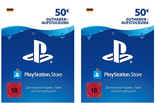 PSN Card-Aufstockung | 100 EUR | PS4, PS3, PS Vita Playstation Network Download Code - deutsches Konto