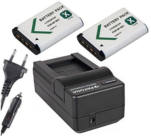 2x Akku (baugleich NP-BX1) + 1x Ladegerät SET für die Sony CyberShot DSC-RX100 / DSC-RX100M2 / DSC-HX300 / DSC-WX300 inklusive Kfz- / Autoladegerät