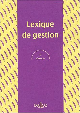 Lexique de gestion par Alain-Charles Martinet