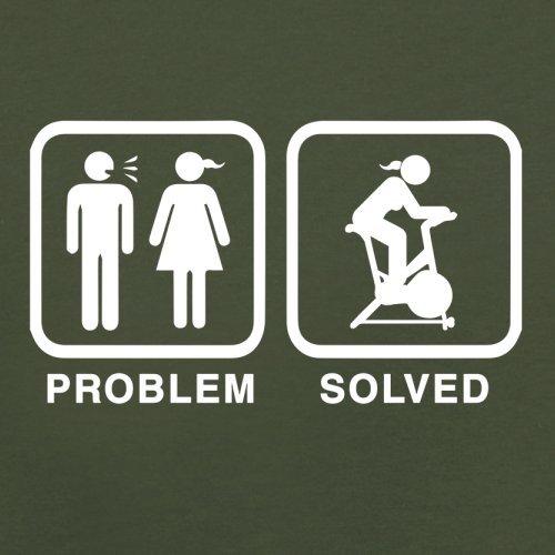 Problem gelöst - Spinning - Herren T-Shirt - 13 Farben Olivgrün