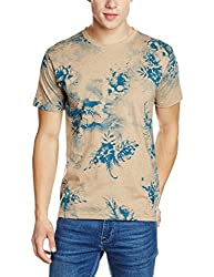 John Players Mens T-Shirt (8907349061322_ZCMCTSS170028003_Small_Beige)