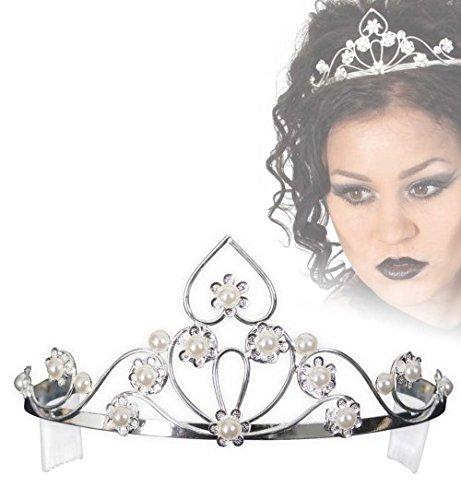 Diadem Strass Herz mit Perlen Krone Prinzessin Elfe Königin (Trolle Frozen Kostüm Von)
