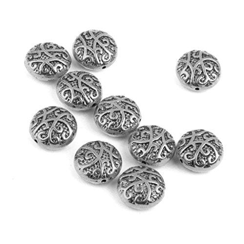 10x Perline Metallo Tribale Antico Argento/Oro Per Pendente Collana Bigiotteria