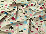 Origami Tiere Print Kleid aus Baumwolle Stoff