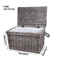 Premium Wicker Trunk Baby Nursery Toys Blanket Storage Chest Basket Box Bedside