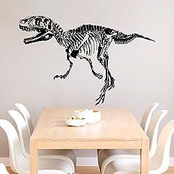 Estudio de pasillo de dinosaurios silueta personalidad creativa dormitorio decorado pared plana removible pared de PVC adhesivo 50 * 70cm