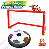 Air Football, Baztoy Air Power Soccer Disc LED Musica Giocattoli Sportivi Toys per Bambini Hover Disk Ball casa e all'aperto Hover Ball Football Sport Bambini