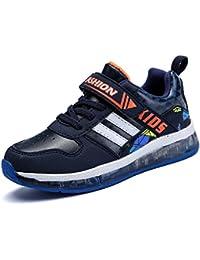 BOZEVON LED Sport Scarpe Lampeggiante Luminosi Sneakers bello Bambino Unisex Ragazza Ragazzi, blu