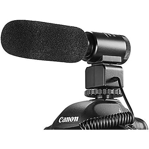 Neewer Aleación de aluminio 3.5mm Estéreo Profesional Micrófono de Entrevista Grabación con 10 dB sensibilidad para Mejora de cámara de DSLR DV videocámara del registrador
