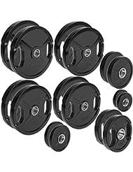 CP. Discos de pesas deporte olímpico goma 1 par de pesas de 50 mm para barras, de 1,25 kg - 25 kg por par Talla:10 kg