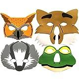 4-Woodland Tiermasken-Maske, für Kinder, Motiv