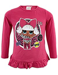 LOL SURPRISE - Camiseta de Manga Larga para niña con Purpurina