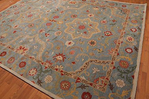 5x 8persa azul Leslie alfombra lana hecho mano