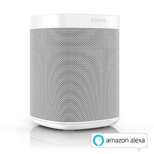 Sonos One Enceinte sans-fil multiroom wifi avec le service vocal Amazon Alexa intégré - Blanc
