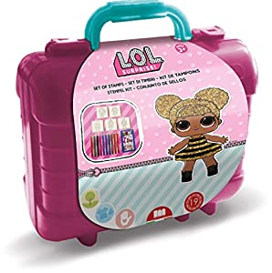 Multiprint Travel Set valigetta in platica LOL - Juegos de Sellos para niños (Multicolor, Chica, 3 año(s), 230 mm, 105 mm, 190 mm)