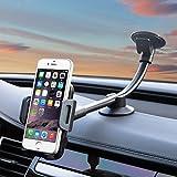 Universelle Handy-Halterung fürs Auto zur Befestigung an Windschutzscheiben von PJP Electronics, mit langem Arm & Saugnapf, für iPhone X, iPhone 8/7Plus/7/6S Plus/6 Plus/6S/6/5, Samsung Galaxy S8/S7/S6/Note 8/5/4/3, Nokia, LG G6, HTC, Huawei und viele andere Smartphones
