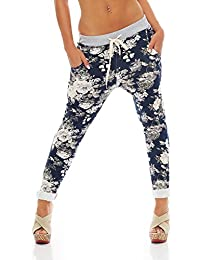 ZARMEXX Femmes Sweatpants Pantalons baggy Boyfriend loisirs pantalons  pantalons de sport All-Over Roses Imprimer 4efe2266498