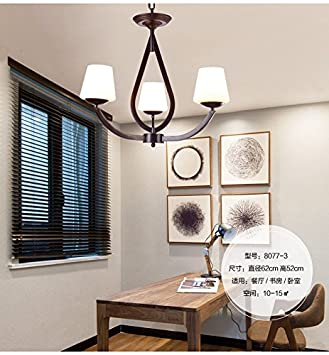 Im Amerikanischen Stil, Rustikale Kronleuchter Kronleuchter Wohn   Esszimmer  Lampe Nordischen Nordischen Lampe Pastoralen Kronleuchter,3 Chandelier: ...