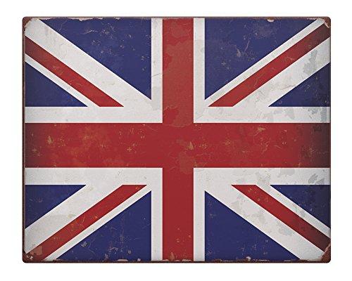 Union Jack Rustico in metallo Segno 25,4x