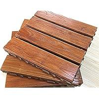 Suelo de madera maciza con mosaico para balcón, terraza, suelo de jardín, suelos de madera al aire libre