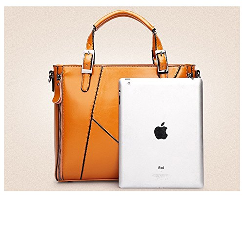 MeiliYH Borse a Mano in PU Pelle Borsa a Tracolla Grande Capacità Fashion Borsa Shopping Alta Qualità Elegante per Donna (Arancione) Blu