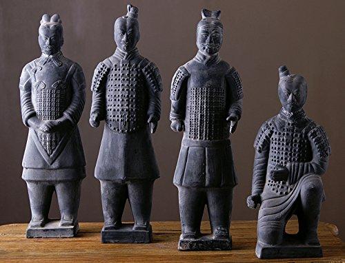 Terrakotta Krieger Set 4 Figuren 45cm Höhe Terracotta Armee